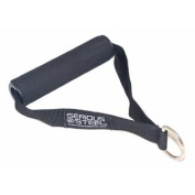 Serious Steel Nylon Fitness Strap | Single D Handle | Cable Attachment | Foam Grip & D-Ring