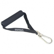 Serious Steel Nylon Fitness Strap | Single D Handle | Foam Grip & D-Ring with METAL CLIP