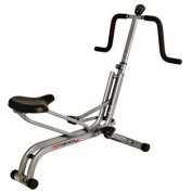 Brenda DyGraf Fit Rider Steel Frame Full Body Workout Equipment with Anti-Slip Pedals