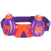 FuelBelt Helium H2O 2-Bottle Hydration Race Belt - Grape/Orange Crush