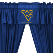 NCAA West Virginia Mountaineers 5pc Long Drapes Valance Set