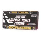 West Virginia Mountaineers Metal Licence Plate W/domed Insert