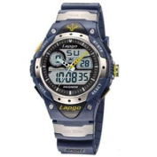 PASNEW High Quality Water-proof Dual Time Boys Girls Sport Watch N3