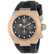 Invicta Women's 10860 Subaqua Sport Chronograph Black Carbon Fibre Dial Black Silicone Watch