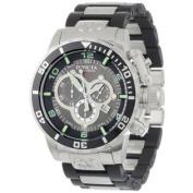 Invicta Men's 0477 Corduba Swiss Chronograph Black Polyurethane and Stainless Steel Watch