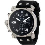 Vestal Men's OBCS002 USS Observer Chrono Black/Silver Lume Watch