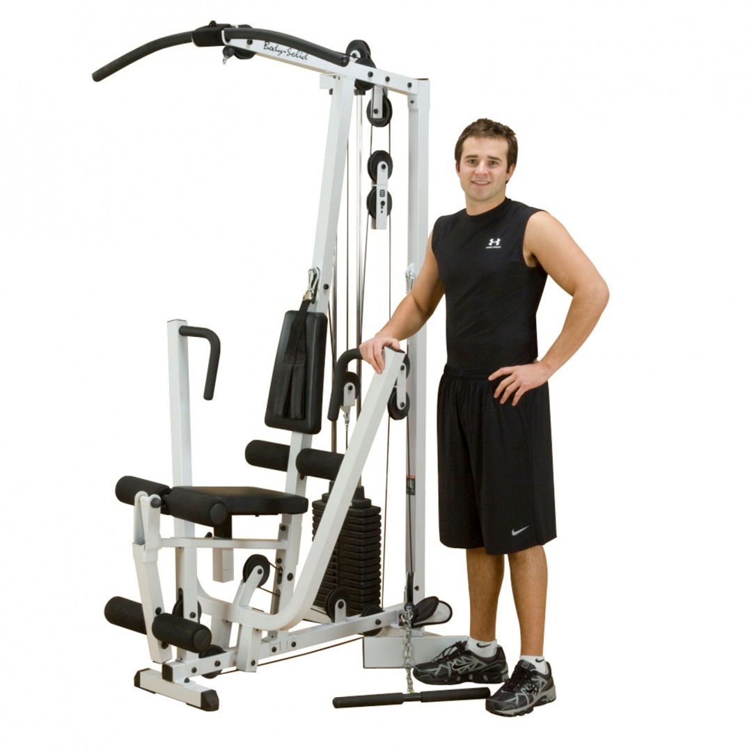 Exm s selectorized home gym single stack includes free