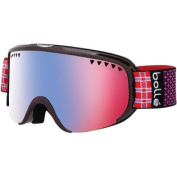 Bolle Scarlett Snow Goggles - Shiny Pink Plaid Frame - Modulator Vermillion Blue Lens - 21317