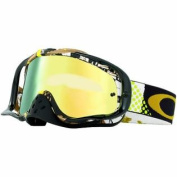 Oakley Crowbar MX Mosh Pit Goggles with Gold Print Frame
