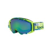 Bolle Gravity Snow Goggles - Matte Lime and Teal Zenith Frame - Green Emerald Lens - 21383