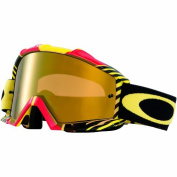 Oakley Proven MX Bio Hazard Goggles with Red/Yellow Print Frame