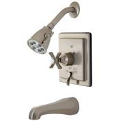 Kingston Brass Millennium Tub/Shower Faucet, Satin Nickel - Satin Nickel