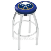 L8C2C25BufSab 60cm . Chrome Buffalo Sabres Swivel Bar Stool With Accent Ring