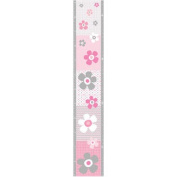 Pretty in Pink Daisy Peel & Stick Growth Chart Wall Decal