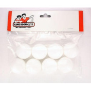 8 White Smooth Surface Foosballs for Tornado Dynamo or Shelti Tables