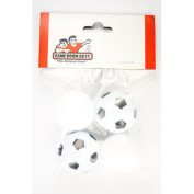 2 Smooth & 2 Soccer Ball Style Foosballs for Tornado Dynamo or Shelti Tables