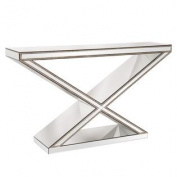 "Howard Elliott ""X"" Frame Mirrored Console Table"