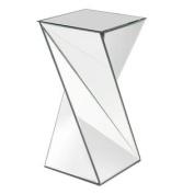 Howard Elliott Aries Twisted Mirrored End Table
