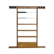 Economy 6 Cues Wall and Ball Rack with Drawer and Scoring Beads
