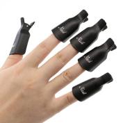Malloom Professional 10PC Plastic Nail Art Soak Off Cap Clip UV Gel Polish Remover Wrap Beauty Tool