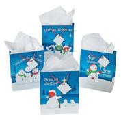 Christmas Religious Snowman Gift Bags (1 DZ) by Fun Express