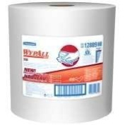 WYPALL X90 Cloths, Industrial, 11 1/10 x 13 2/5, White, 450/Roll by Kimberly Clark