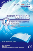 28 Whitening Strips Onuge | Lovely Smile Premium Line Professional Quality - with Non-Slip Tech - Teeth Whitening Kit - Whiter Teeth