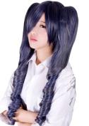 Anogol Black Butler Kuroshitsuji Ciel Phantomhive Cosplay Wig Grey Grey Women's Hair Wig with Cap
