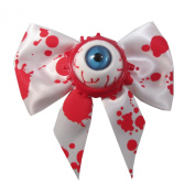 Kawaii Horror Hair Bow Single Eyeball Splatter Blue By Kreepsville 666