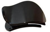 Parcelona France Onde Celluloid Black Side Slide In Secure Grip Hair Updo Hinge Duck Hair Claw - 5.7cm