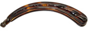 Parcelona French Channelled Extra Large Long Tortoise Shell Celluloid Ponytail Holder Banana Hair Clip