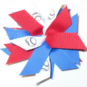 Softball Pom Scrunchie, Avail in Many Colours, Made in the USA