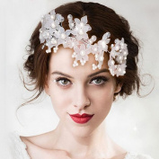 BININBOX Brides Fascinator Pearl Headpiece Womens Bridal Wedding Hair Accessory