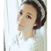 BININBOX Crystal Rhinestones Womens Hair Jewellery Headband Bridal Wedding