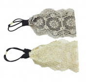 Yueton Pack of 2 Elegant Retro Women Girl Lace Headband Hair Band Hair Accessories