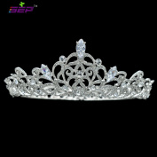 Bridal Wedding Crown Austrian Crystals Princess Tiara Women Headpiece Pageant Hair Jewellery SHA8719