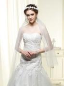Venusvi Bridal Wedding Veil for Bride with Flower Women's Handmade Wedding Headband