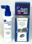 (Pack of 3) Mens Head & Shoulders Full & Thick Advanced Thickening Tonic, 2X Fuller, Thicker Hair, 120ml each