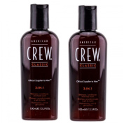 American Crew Classic 3-in-1 Shampoo, Conditioner, and Body Wash 100mls