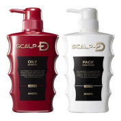 SCALP D Medical Shampoo (Oily Skin Type) & SCALP D Medical Scalp Pack Conditioner (For All Skin Type) Set