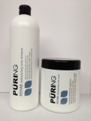 Maxima Mx Puring Rehab Restructuring Curly Shampoo & Mask Duo (Restructures Curly Hair) 1000ml/33.8oz
