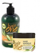 Hair One Cleanser & Conditioner w/ Jojoba Oil - Colour Treated Hair 350ml & 240ml Hair Masque Combo