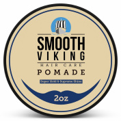 Strong Hold Pomade for Men - Best Hair Styling Formula for Maximum Hold and High Shine - Perfect for Straight, Thick and Curly Hair - 60ml - Smooth Viking