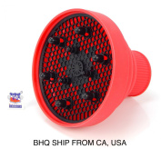 Hair Dryer Diffuser Retractable Portable Folding Space Saver Light Weight - Red