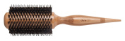 Diane 7cm Wood Round Brush, Wood round brush, porcupine bristle, boar pins, nylon pins, ball tipped pins, boys and girls, adults and kids, long hair, short hair, lightweight brush