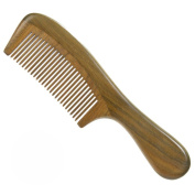 Green Sandalwood Comb Detangling No Static Aromatic Deluxe Natural Round Handle