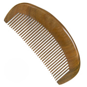 No Static Comb Green Sandalwood Fine Tooth Moon Shaped Aromatic Natural