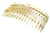 French Amie Handmade Ivory Cream Celluloid Acetate 16 Teeth Side Hair Comb