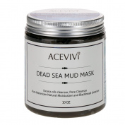ACEVIVI Natural Dead Sea Mud Facial Mask - Facial Mask and Skin Care Treatment for Women, Men and Teens - Organic Mud Mask Offers Gentle Facial Exfoliator, Natural Moisturiser and Deep Cleansing to Restore Your Skin's Natural Radiance - This Renowned A ..
