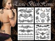 Exotic Black Henna Tattoo Art